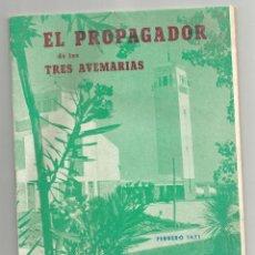 Coleccionismo de Revistas y Periódicos: EL PROPAGADOR DE LAS TRES AVEMARIAS-Nº 611 DE FEBRERO DE 1971- ANTIGUA REVISTA MENSUAL MARIANA. Lote 191212661