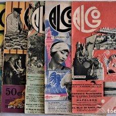 Coleccionismo de Revistas y Periódicos: LOTE 6 REVISTAS ALGO SEMANARIO ENCICLOPÉDICO AÑO 1932 EN BUEN ESTADO. Lote 191222421