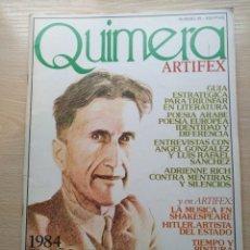 Coleccionismo de Revistas y Periódicos: REVISTA DE LITERATURA QUIMERA - Nº 35 1984 EL AÑO DE GEORGE ORWELL . Lote 191270340