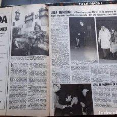 Coleccionismo de Revistas y Periódicos: LOLA HERRERA. Lote 191278952