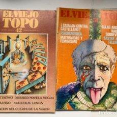 """Coleccionismo de Revistas y Periódicos: REVISTA """"EL VIEJO TOPO"""" NÚMEROS 42 Y 51. Lote 191367880"""