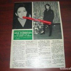 Coleccionismo de Revistas y Periódicos: ANA TORROJA - ENTREVISTA - RECORTE 1 PAG. - REVISTA SEMANA -AÑO 1989. Lote 191395206