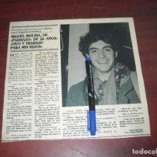 Coleccionismo de Revistas y Periódicos: MIGUEL MOLINA - ENTREVISTA - RECORTE 1 PAG. - REVISTA SEMANA -AÑO 1989. Lote 191408111