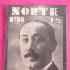 Coleccionismo de Revistas y Periódicos: NORTE REVISTA ASTURIAS 28 ALFONSO CAMIN TEODOMIRO MENENDEZ.1932. Lote 191452352