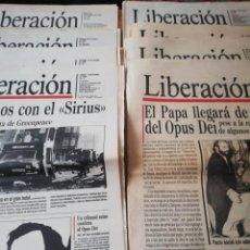 Coleccionismo de Revistas y Periódicos: LOTE DE 11 PERIÓDICOS LIBERACIÓN. NÚMEROS 1 AL 10 Y EL ÚLTIMO 139. Lote 191457763