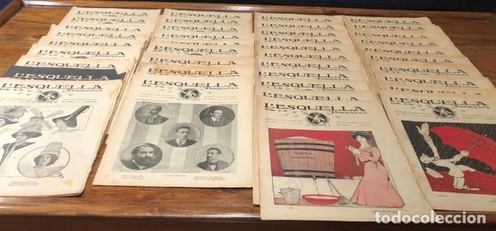 Coleccionismo de Revistas y Periódicos: LEsquella de la Torratxa. 39 números Año XXII. publicado en 1910. Santiago Rusiñol. República - Foto 2 - 191522663