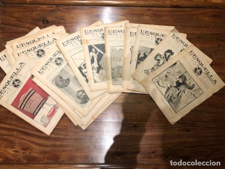 Coleccionismo de Revistas y Periódicos: LEsquella de la Torratxa. 39 números Año XXII. publicado en 1910. Santiago Rusiñol. República - Foto 3 - 191522663