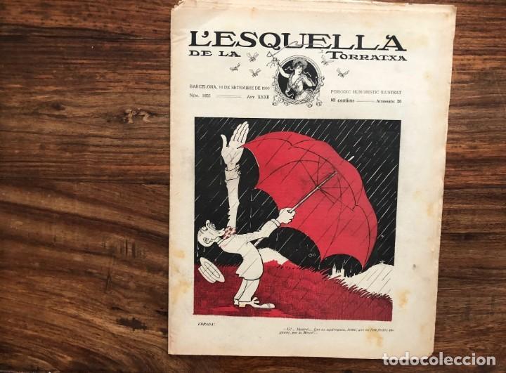 Coleccionismo de Revistas y Periódicos: LEsquella de la Torratxa. 39 números Año XXII. publicado en 1910. Santiago Rusiñol. República - Foto 6 - 191522663