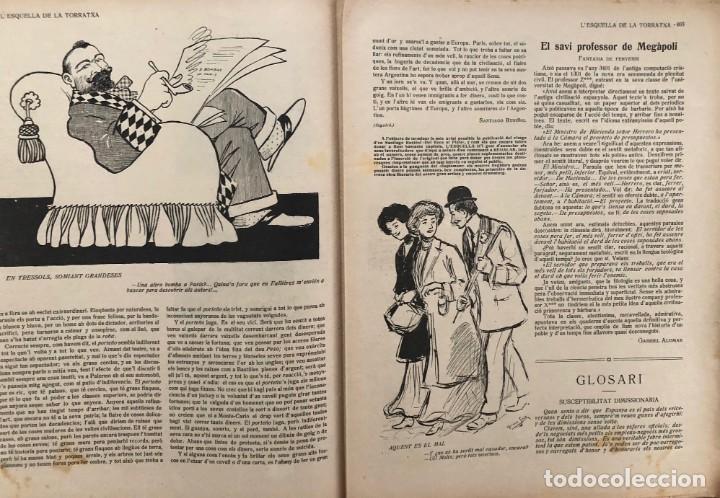 Coleccionismo de Revistas y Periódicos: LEsquella de la Torratxa. 39 números Año XXII. publicado en 1910. Santiago Rusiñol. República - Foto 7 - 191522663