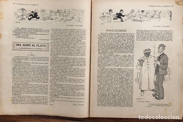 Coleccionismo de Revistas y Periódicos: LEsquella de la Torratxa. 39 números Año XXII. publicado en 1910. Santiago Rusiñol. República - Foto 9 - 191522663