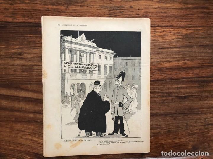 Coleccionismo de Revistas y Periódicos: LEsquella de la Torratxa. 39 números Año XXII. publicado en 1910. Santiago Rusiñol. República - Foto 10 - 191522663