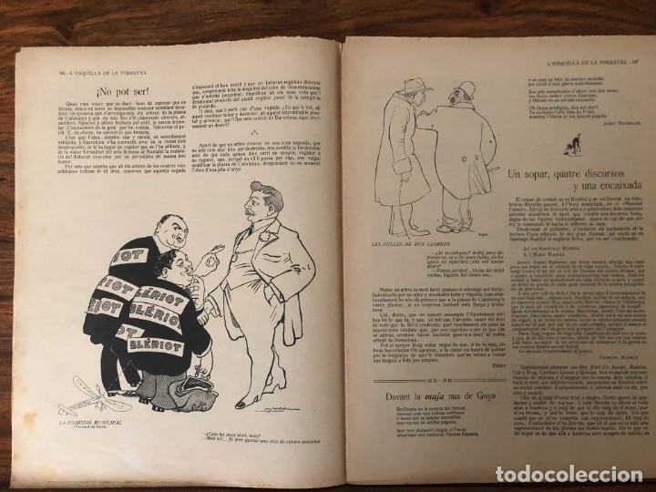 Coleccionismo de Revistas y Periódicos: LEsquella de la Torratxa. 39 números Año XXII. publicado en 1910. Santiago Rusiñol. República - Foto 11 - 191522663