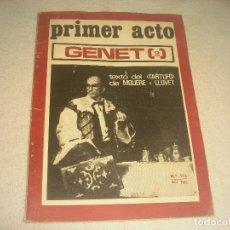 Coleccionismo de Revistas y Periódicos: PRIMER ACTO N. 115 . GENET 2. 1969. Lote 191555245