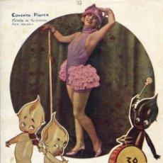 Coleccionismo de Revistas y Periódicos: REVISTA-MUNDO GRÁFICO. ARTISTA CUPLETISTA CONCHITA PIQUER Nº 774. AÑO 1926. Lote 191590350