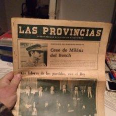 Coleccionismo de Revistas y Periódicos: DIARIO LAS PROVINCIAS 25 FEBRERO DE 1981 CESE DE MILANS DEL BOSCH. Lote 191660125