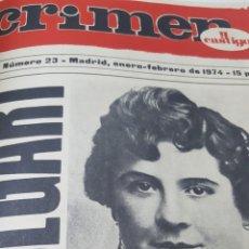 Coleccionismo de Revistas y Periódicos: REVISTA DE SUCESOS CRIMEN Y CASTIGO. DEL Nº 23 AL 29 AÑO 1974. ENCUADERNADAS EN UN VOLUMEN.. Lote 191998245