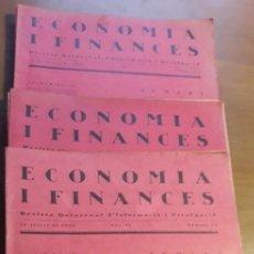 Coleccionismo de Revistas y Periódicos: LOTE DE 21 EJEMPLARES DE LA REVISTA ECONOMIA I FINANCES / AÑO 1923 Y 1926 / BOLSA / EN CATALÀ. Lote 96682439