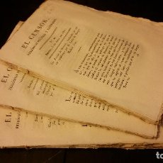 Collezionismo di Riviste e Giornali: 1821 - EL CENSOR PERIÓDICO POLÍTICO Y LITERARIO. Nº 40, 41 Y 42 - TRIENIO LIBERAL. Lote 192061965