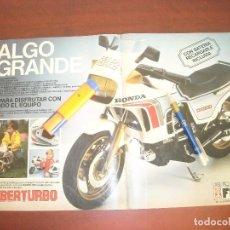 Coleccionismo de Revistas y Periódicos: FEBERTURBO FEBER-TURBO CX500- PUBLICIDAD- HOJA CENTRAL- REVISTA INTERVIU 1984 - RECORTE. Lote 192144982