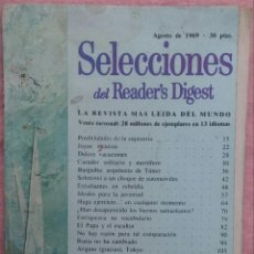 Coleccionismo de Revistas y Periódicos: REVISTA SELECCIONES DEL READER'S DIGEST, AGOSTO DE 1969 /// MUY INTERESANTE LECTURAS BLANCO NEGRO. Lote 192276525