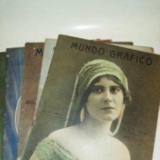Coleccionismo de Revistas y Periódicos: MUNDO GRÁFICO , 6 NÚMEROS DECADA 1910. Lote 192399812
