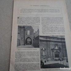 Coleccionismo de Revistas y Periódicos: ANTIGUA REVISTA SIN PORTADAS LA CIUDAD CONVENTUAL GANTE. Lote 192580101