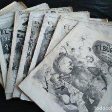 Coleccionismo de Revistas y Periódicos: EL TIBURÓN - ALMANAQUE HUMORÍSTICO ILUSTRADO 1863 (1R), 1864, 1865, 1869, 1870, 1872, 1874 (ÚLTIMO). Lote 192658907