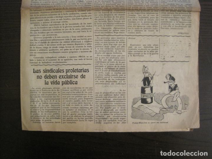 Coleccionismo de Revistas y Periódicos: GUERRA CIVIL-PROA-Nº1-BARCELONA AÑO 1937-OBREROS SOLDADOS Y MARINOS-VER FOTOS-(V-18.846) - Foto 5 - 192822787