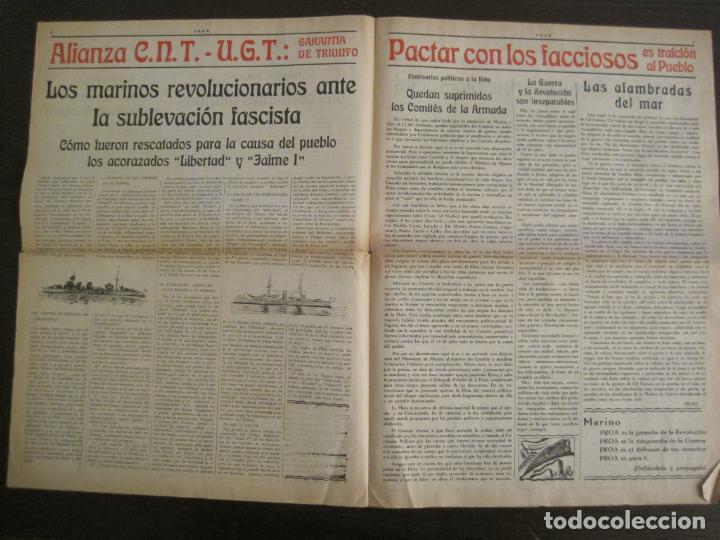 Coleccionismo de Revistas y Periódicos: GUERRA CIVIL-PROA-Nº1-BARCELONA AÑO 1937-OBREROS SOLDADOS Y MARINOS-VER FOTOS-(V-18.846) - Foto 6 - 192822787
