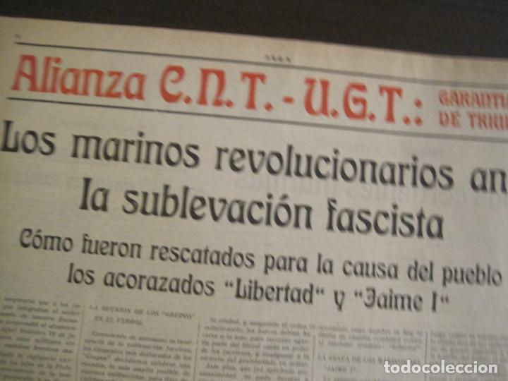 Coleccionismo de Revistas y Periódicos: GUERRA CIVIL-PROA-Nº1-BARCELONA AÑO 1937-OBREROS SOLDADOS Y MARINOS-VER FOTOS-(V-18.846) - Foto 8 - 192822787