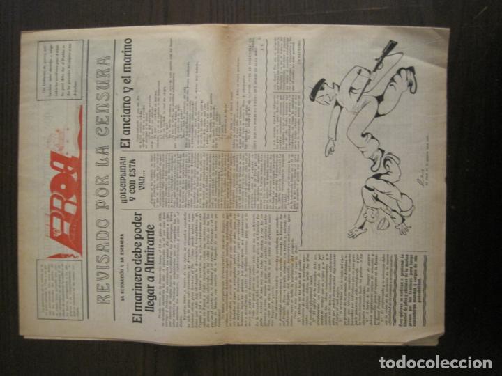 Coleccionismo de Revistas y Periódicos: GUERRA CIVIL-PROA-Nº1-BARCELONA AÑO 1937-OBREROS SOLDADOS Y MARINOS-VER FOTOS-(V-18.846) - Foto 10 - 192822787