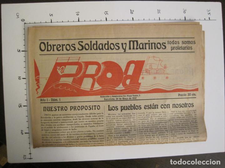 Coleccionismo de Revistas y Periódicos: GUERRA CIVIL-PROA-Nº1-BARCELONA AÑO 1937-OBREROS SOLDADOS Y MARINOS-VER FOTOS-(V-18.846) - Foto 11 - 192822787