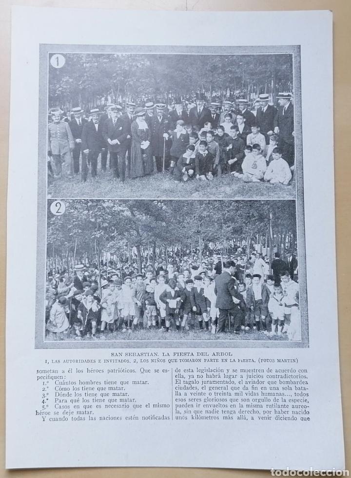 Coleccionismo de Revistas y Periódicos: Doble página / Madrid, en la embajada Inglesa - San Sebastián, La fiesta del árbol / 1919 - Foto 2 - 193076890