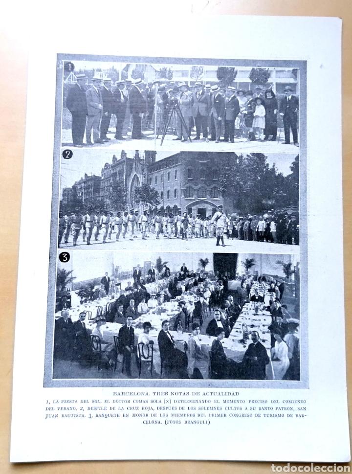 PÁGINA - BARCELONA, TRES NOTAS DE ACTUALIDAD / 1919 (Coleccionismo - Revistas y Periódicos Antiguos (hasta 1.939))