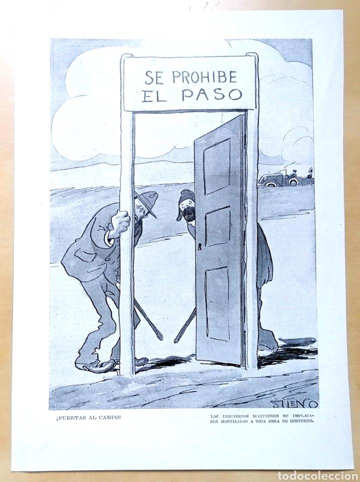 PÁGINA / HUMOR, ¡PUERTAS AL CAMPO! POR SILENO / 1919 (Coleccionismo - Revistas y Periódicos Antiguos (hasta 1.939))