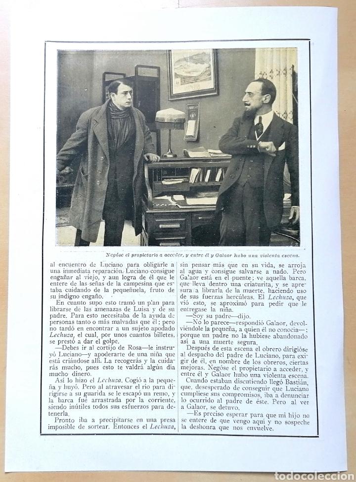 Coleccionismo de Revistas y Periódicos: 4 hojas / ¡Justicia!, Cinemadrama de Paul Richefort, impresionado casa Ambrosio Film, Turin - 1919 - Foto 2 - 193181575