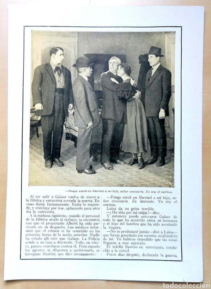 Coleccionismo de Revistas y Periódicos: 4 hojas / ¡Justicia!, Cinemadrama de Paul Richefort, impresionado casa Ambrosio Film, Turin - 1919 - Foto 3 - 193181575