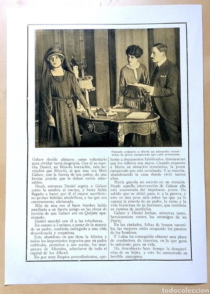 Coleccionismo de Revistas y Periódicos: 4 hojas / ¡Justicia!, Cinemadrama de Paul Richefort, impresionado casa Ambrosio Film, Turin - 1919 - Foto 4 - 193181575