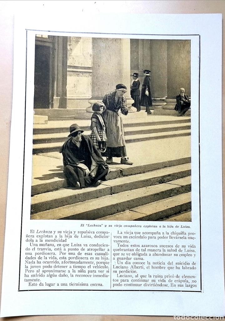 Coleccionismo de Revistas y Periódicos: 4 hojas / ¡Justicia!, Cinemadrama de Paul Richefort, impresionado casa Ambrosio Film, Turin - 1919 - Foto 5 - 193181575