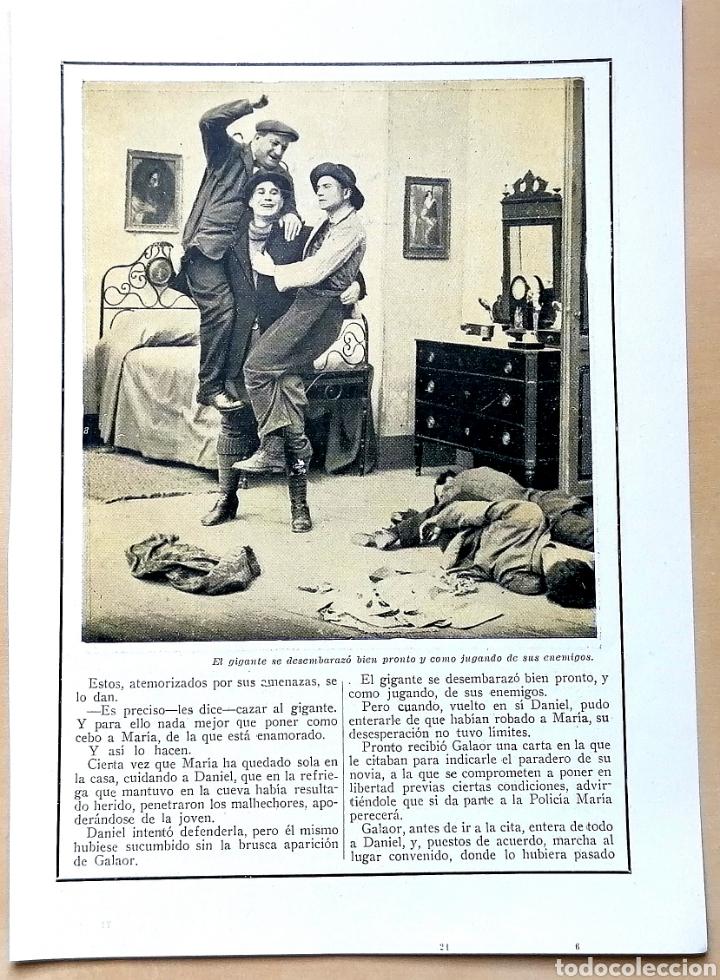 Coleccionismo de Revistas y Periódicos: 4 hojas / ¡Justicia!, Cinemadrama de Paul Richefort, impresionado casa Ambrosio Film, Turin - 1919 - Foto 7 - 193181575