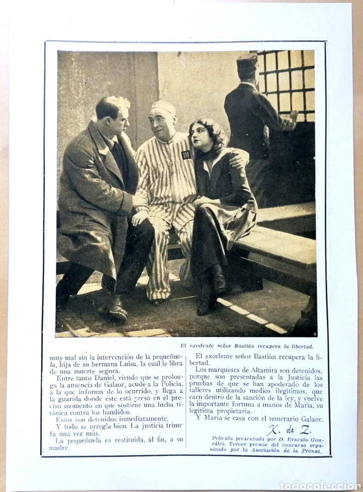 Coleccionismo de Revistas y Periódicos: 4 hojas / ¡Justicia!, Cinemadrama de Paul Richefort, impresionado casa Ambrosio Film, Turin - 1919 - Foto 8 - 193181575