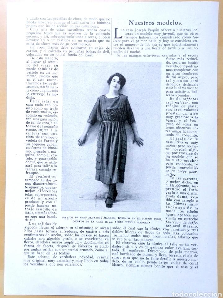 Coleccionismo de Revistas y Periódicos: Dos hojas - Páginas Femeninas, La Mujer Y La Casa Moderna / Extraídas de revista 1919 - Foto 2 - 193323417