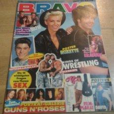 Coleccionismo de Revistas y Periódicos: REVISTA ALEMANA BRAVO 1992 ROXETTE ERASURE MADONNA 90210. Lote 193452235