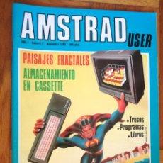 Coleccionismo de Revistas y Periódicos: REVISTA AMSTRAD USER Nº 2 NOV AÑO 1985, CPC 6128 SUPERAMSTRAD. Lote 193641733