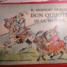 Coleccionismo de Revistas y Periódicos: DON QUIJOTE DE LA MANCHA CUENTO ILUSTRACIONES COLOR RARO EJEMPLAR. Lote 193852932