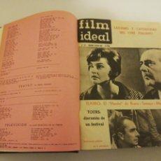 Coleccionismo de Revistas y Periódicos: FILM IDEAL 1962, NUMEROS 87 AL 110 ENERO A DICIEMBRE 1962, ENCUADERNADO VER FOTOS. Lote 193869382