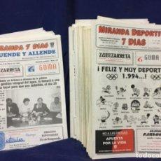 Coleccionismo de Revistas y Periódicos: (MT) LOTE DE 155 NUMEROS REVISTA MIRANDA 7 DÍAS 1994 MIRANDA DE EBRO. Lote 193909978