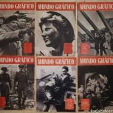 Coleccionismo de Revistas y Periódicos: 13 REVISTAS PORTUGUESAS - MUNDO GRÁFICO - AÑOS 1942 - 1943 - 1944 - INCOMPLETAS. Lote 193976412