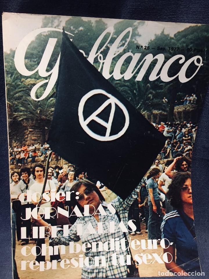 Coleccionismo de Revistas y Periódicos: 9 revistas mensual ajoblanco encuentro difusión contracultura españa año 1977 1978 - Foto 4 - 193985167