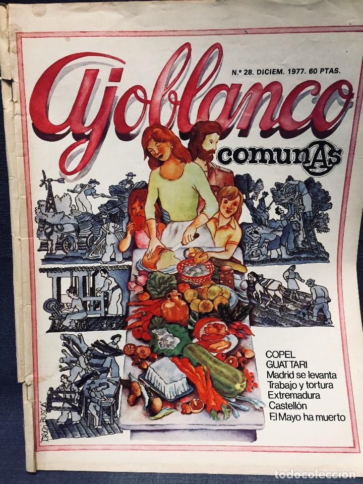 Coleccionismo de Revistas y Periódicos: 9 revistas mensual ajoblanco encuentro difusión contracultura españa año 1977 1978 - Foto 13 - 193985167